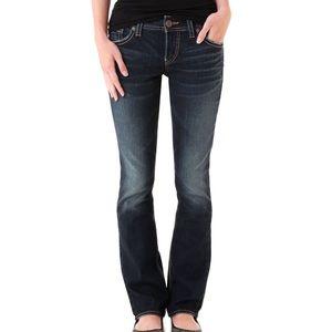 Silver Jeans SUKI Surplus blue dark wash denim 28
